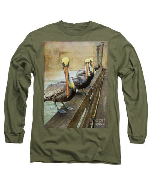 The Pelican Gang Long Sleeve T-Shirt by Steven Reed