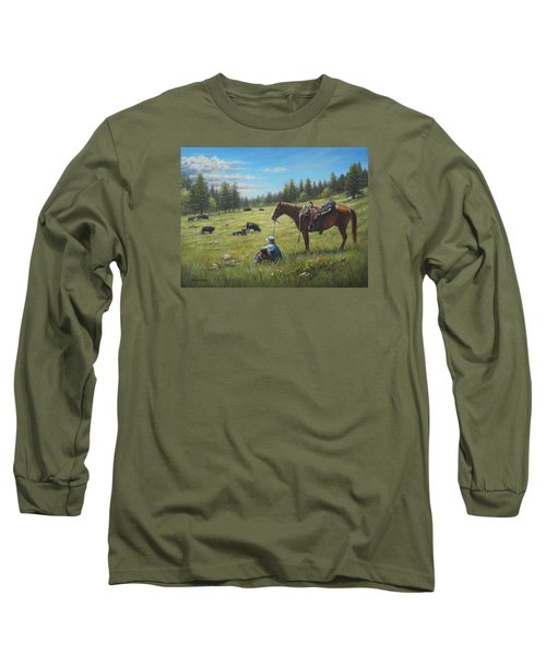 Long Sleeve T-Shirt featuring the painting The Perfect Day by Kim Lockman