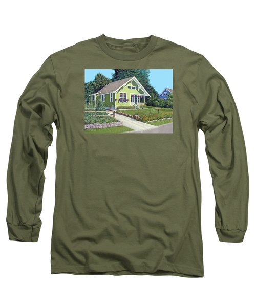 Long Sleeve T-Shirt featuring the painting Our Neighbour's House by Gary Giacomelli