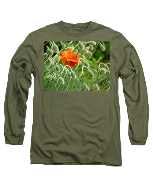 Long Sleeve T-Shirt featuring the photograph The Poppy by Evelyn Tambour
