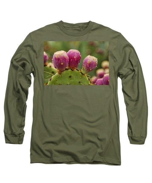 The Prickly Pear  Long Sleeve T-Shirt by Saija  Lehtonen