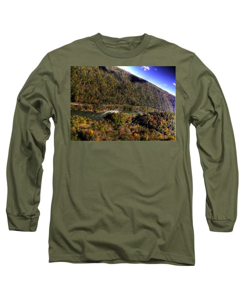 The River Below Long Sleeve T-Shirt by Jonny D