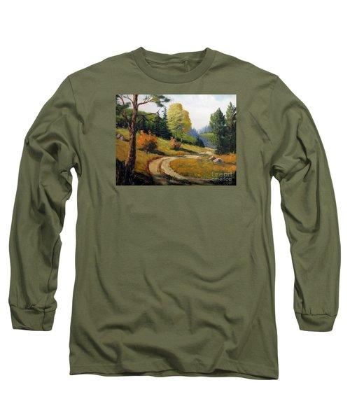 The Road Not Taken Long Sleeve T-Shirt by Lee Piper