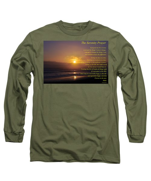 The Serenity Prayer Long Sleeve T-Shirt