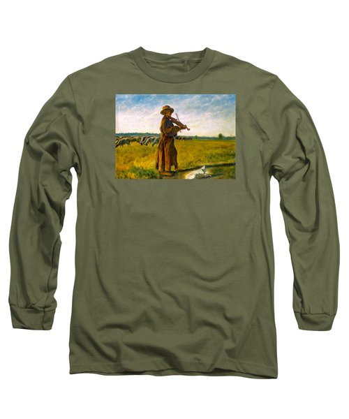 The Shepherd Long Sleeve T-Shirt by Henryk Gorecki