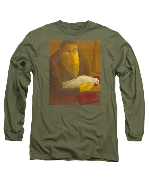 The Shochet With Rooster Long Sleeve T-Shirt