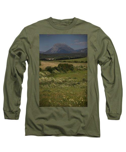 The Sierra El Pinar Mountain Backdrops Long Sleeve T-Shirt