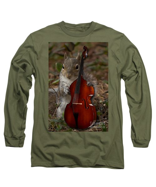 The Squirrel And His Double Bass Long Sleeve T-Shirt