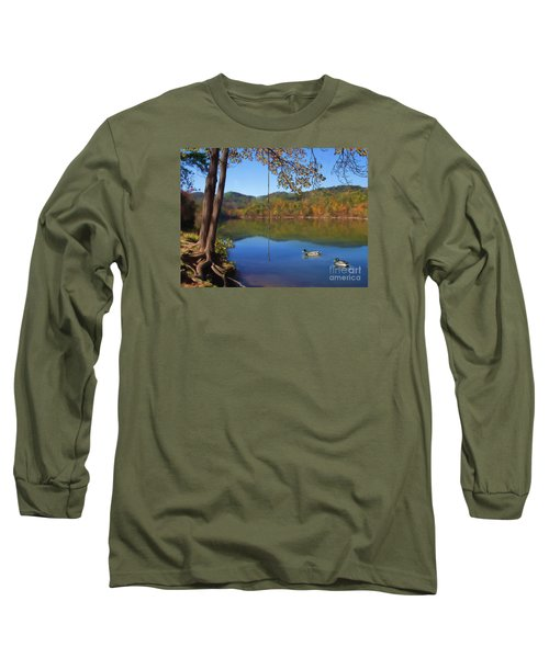 The Swimming Hole Long Sleeve T-Shirt by Lena Auxier