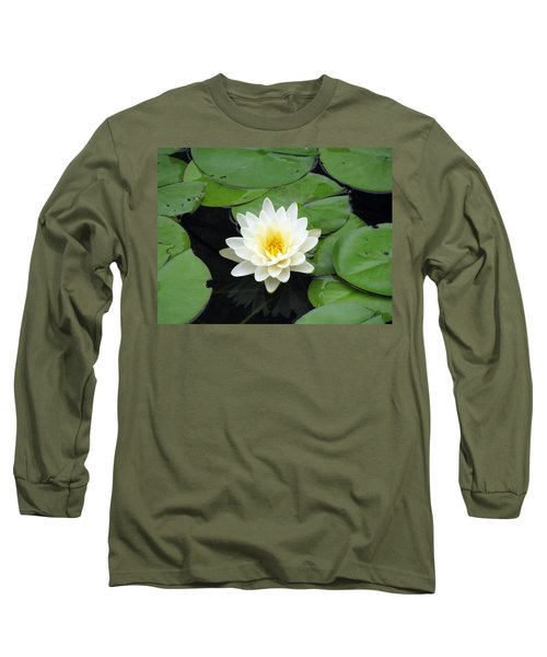Long Sleeve T-Shirt featuring the photograph The Water Lilies Collection - 01 by Pamela Critchlow