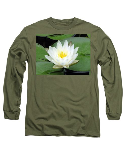 Long Sleeve T-Shirt featuring the photograph The Water Lilies Collection - 04 by Pamela Critchlow