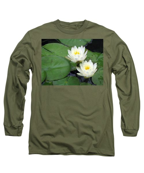 Long Sleeve T-Shirt featuring the photograph The Water Lilies Collection - 06 by Pamela Critchlow