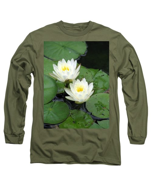 Long Sleeve T-Shirt featuring the photograph The Water Lilies Collection - 07 by Pamela Critchlow