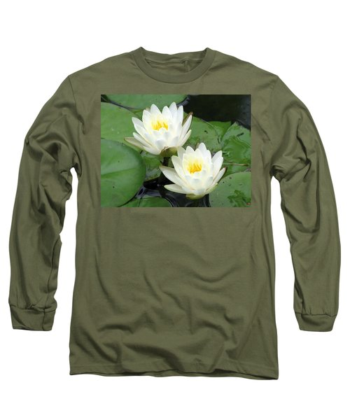Long Sleeve T-Shirt featuring the photograph The Water Lilies Collection - 08 by Pamela Critchlow