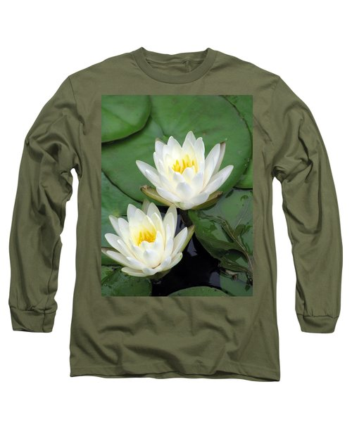Long Sleeve T-Shirt featuring the photograph The Water Lilies Collection - 12 by Pamela Critchlow