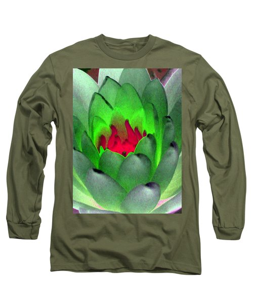 Long Sleeve T-Shirt featuring the photograph The Water Lilies Collection - Photopower 1122 by Pamela Critchlow