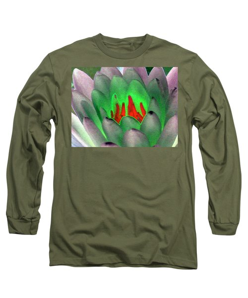 Long Sleeve T-Shirt featuring the photograph The Water Lilies Collection - Photopower 1123 by Pamela Critchlow
