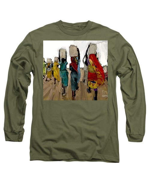 The Water Workers Long Sleeve T-Shirt by Vannetta Ferguson
