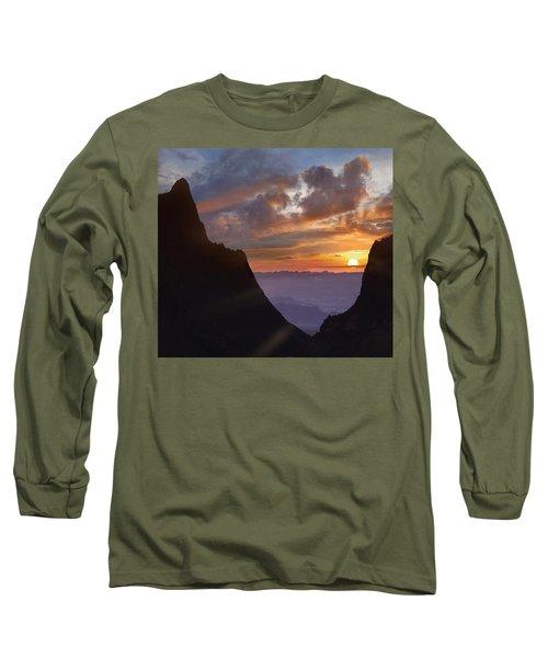 The Window At Sunset Big Bend Np Texas Long Sleeve T-Shirt
