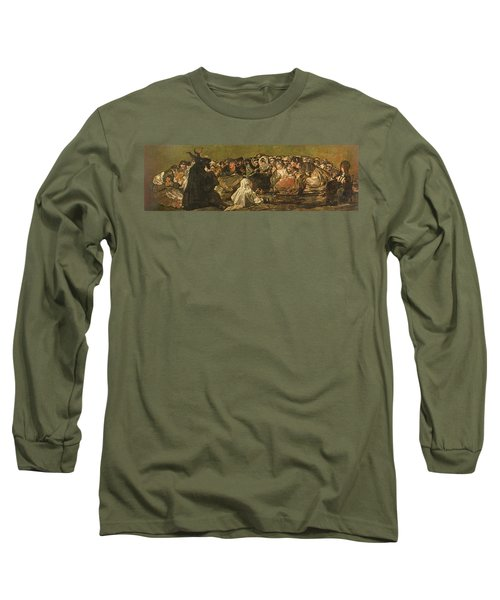 The Witches Sabbath Or The Great He-goat, One Of The Black Paintings, C.1821-23 Oil On Canvas Long Sleeve T-Shirt