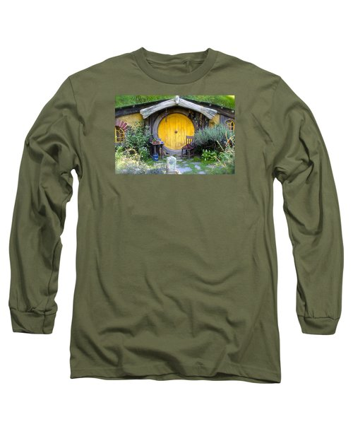 The Yellow Hobbit Door Long Sleeve T-Shirt by Venetia Featherstone-Witty