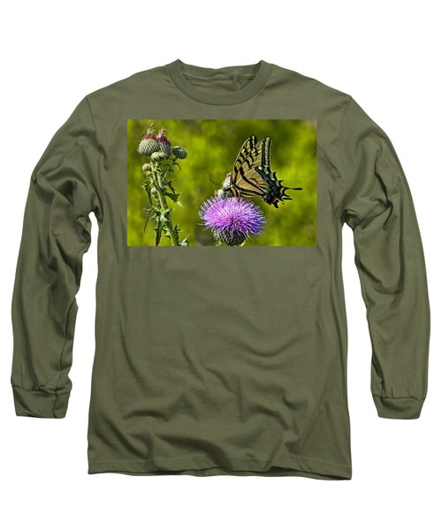Long Sleeve T-Shirt featuring the photograph Thistle Do Just Fine by Gary Holmes