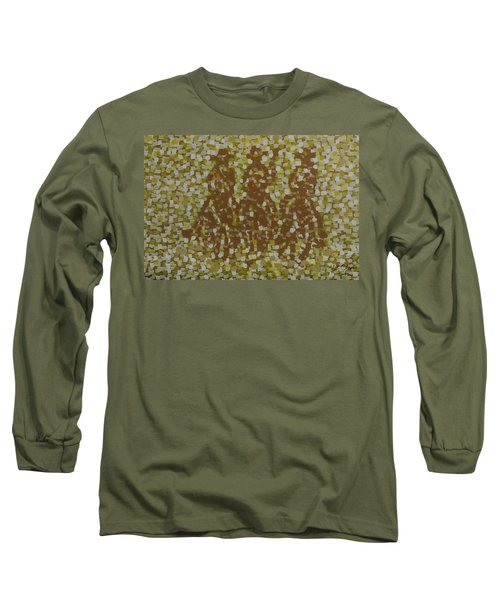 Long Sleeve T-Shirt featuring the painting Amigos by Kurt Olson