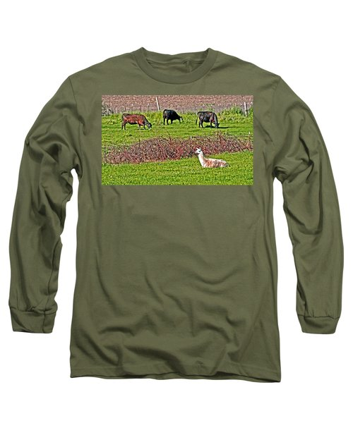 Three Is A Crowd Long Sleeve T-Shirt