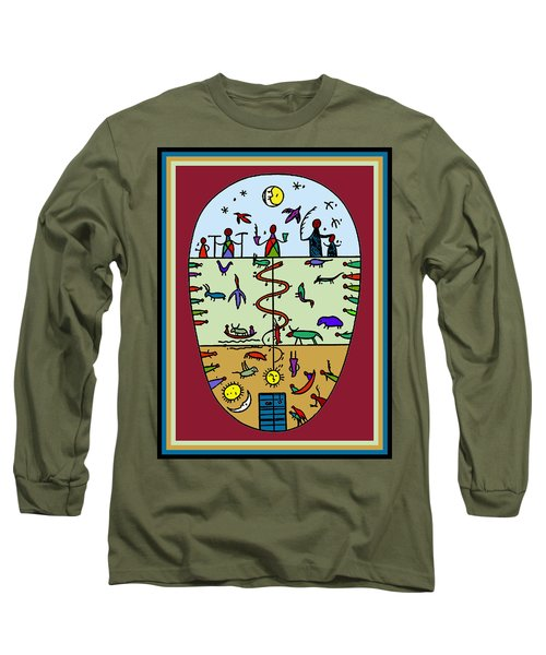 Long Sleeve T-Shirt featuring the digital art Three Layers Of Life by Vagabond Folk Art - Virginia Vivier