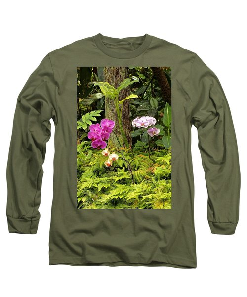 Three Orchid And A Tree Long Sleeve T-Shirt
