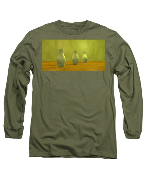 Long Sleeve T-Shirt featuring the digital art Three Vases II by Gabiw Art