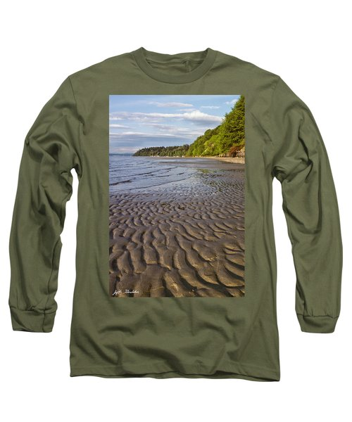 Tidal Pattern In The Sand Long Sleeve T-Shirt by Jeff Goulden