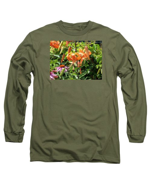 Tiger Lilies Long Sleeve T-Shirt by Catherine Gagne