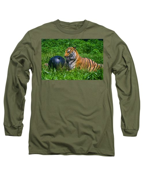 Tiger Playing With Ball Long Sleeve T-Shirt