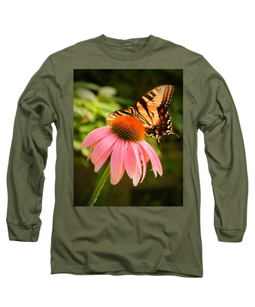 Tiger Swallowtail Feeding Long Sleeve T-Shirt