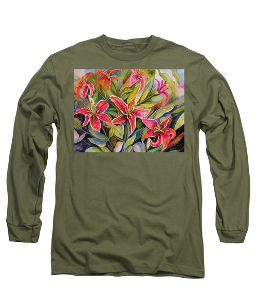 Tigers In My Garden Long Sleeve T-Shirt