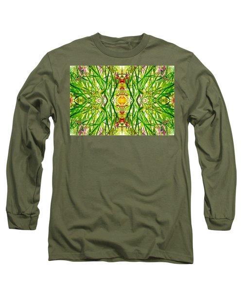 Tiki Idols In The Grass  Long Sleeve T-Shirt