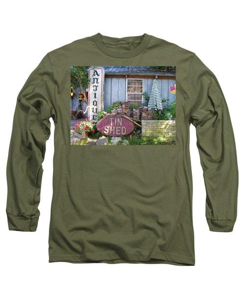 Tin Shed Apalachicola Florida Long Sleeve T-Shirt