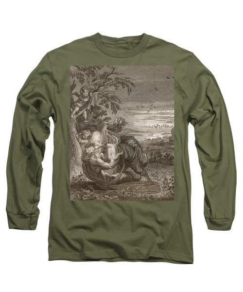 Tithonus, Auroras Husband, Turned Into A Grasshopper Long Sleeve T-Shirt by Bernard Picart