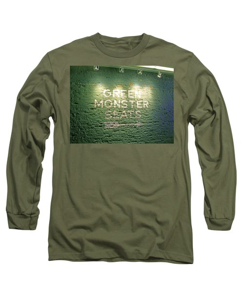 Long Sleeve T-Shirt featuring the photograph To The Green Monster Seats by Barbara McDevitt