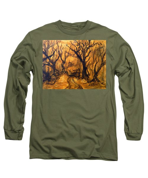 Long Sleeve T-Shirt featuring the painting Toad Hollow by Christophe Ennis