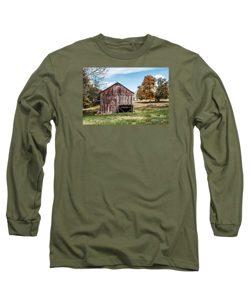 Long Sleeve T-Shirt featuring the photograph Tobacco Barn Ready For Smoking by Debbie Green