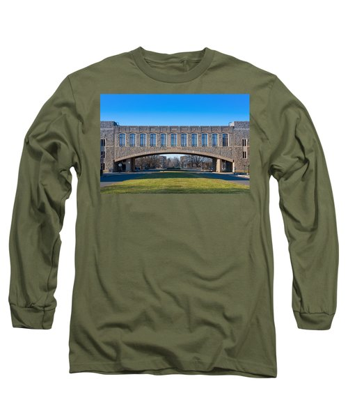 Torgersen Hall At Virginia Tech Long Sleeve T-Shirt by Melinda Fawver