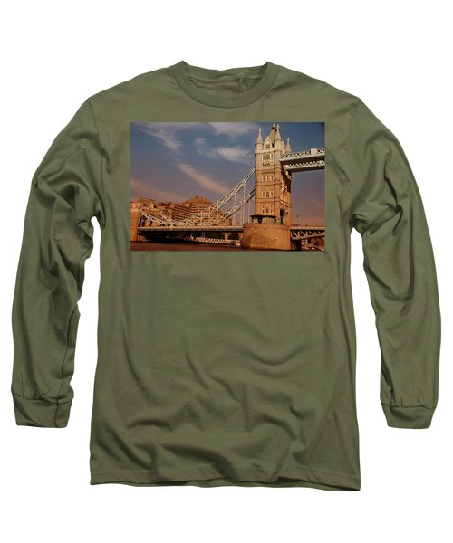 Tower Bridge Sunset Long Sleeve T-Shirt by Jonah  Anderson
