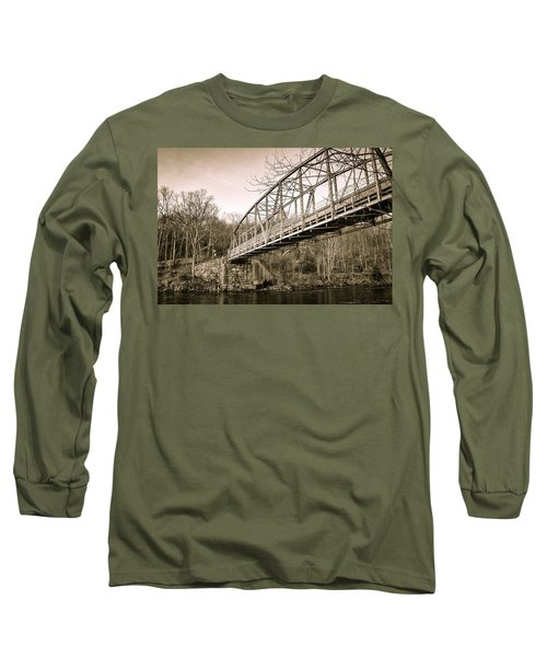 Town Bridge Collinsville Connecticut Long Sleeve T-Shirt