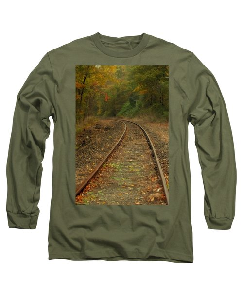 Tracking Thru The Woods Long Sleeve T-Shirt by Karol Livote