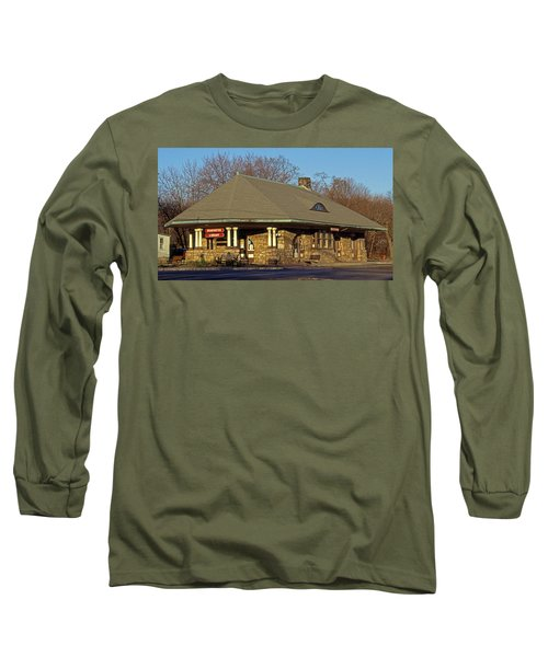 Train Stations And Libraries Long Sleeve T-Shirt by Skip Willits
