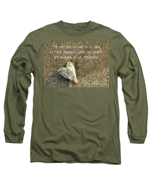 Treasured Heart Long Sleeve T-Shirt by Peggy Hughes
