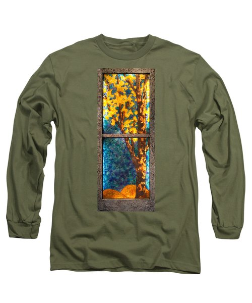 Tree Inside A Window Long Sleeve T-Shirt