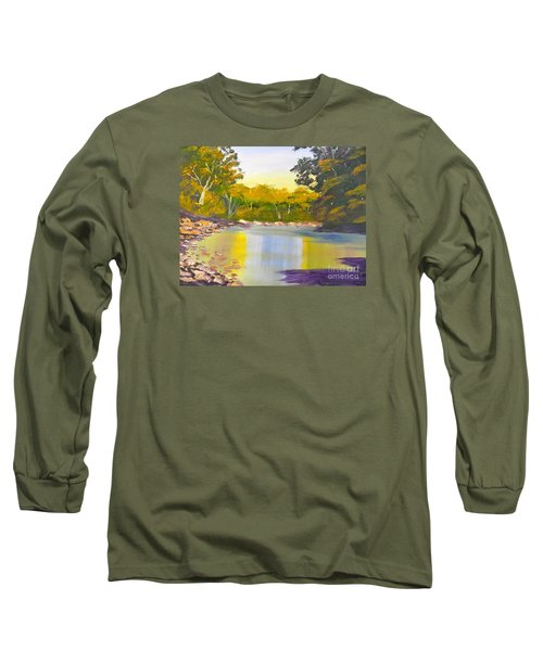 Tree Lined River Long Sleeve T-Shirt